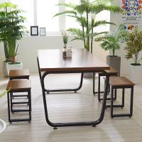 스틸뷰 1500 식탁+의자세트 테이블