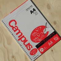 [KOKUYO] A4-50매의 일본 고쿠요 Campus LOOSE LEAF 30공 바인더 리필용 속지 HB561-1