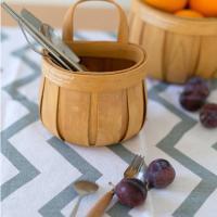 빈티지 대나무 바스켓 소1개 (색상랜덤)