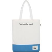 BASIC ECO BAG WHITE+SKY BLUE