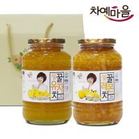 차예마을 유자 레몬 차 꿀 과일 청 2종 선물세트