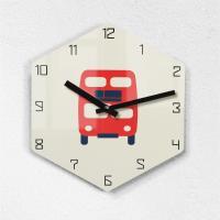 리플렉스 모던6각 런던버스 무소음벽시계 LON25BUS