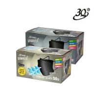 [3Q] 칼라센스 3중 필터 블랙 마스크 50매 (대형 / 중형)