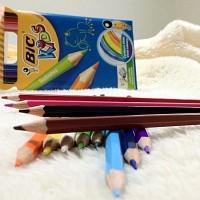 [BiC] VIVID한 컬러가 돋보이는-프랑스 빅 KIDS Tropicolors 12색 색연필 HA125-1