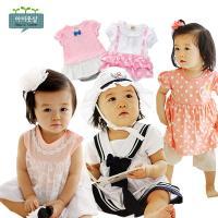 아이옷샵 아기 반팔 캐주얼 롬퍼 아기옷 원피스