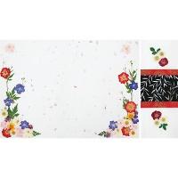 [체크스토리-장미정원꽃지] 예단편지 꽃편지 압화편지 감사편지 (완제품)