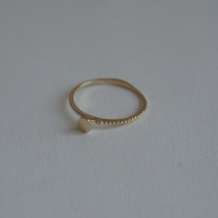 14k gold twin circle ring 2