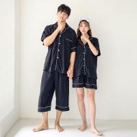 [쿠비카]화이트 도트 레이온 투피스 커플잠옷 WM253