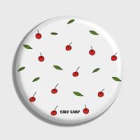 [어프어프] 손거울 Leaf cherries-white