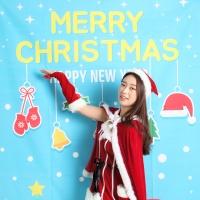 크리스마스 포토존 현수막-산타클로스(150x210)