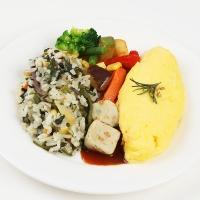 [허닭] 곤약다섯가지나물밥&참치오믈렛 도시락