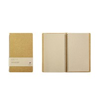 SPIRAL RING Notebook - camel (A5)