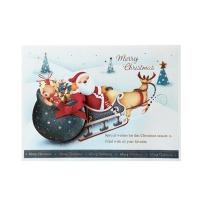 크리스마스카드/성탄절/트리/산타 크리스마스의 산타썰매 (FS151s-4)