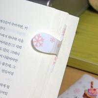 [플라스틱 and 자석 자동책갈피] 자동책갈피 수지인 : 메리크리스마스(눈꽃)