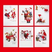 크리스마스카드/성탄절/트리/산타 산타세트 FS1022 Set(6종 세트상품)