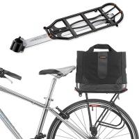 보온 보냉 자전거 여행가방과 자전거 짐받이 세트
