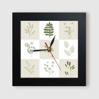 ct809-초록잎일러스트_미니액자벽시계