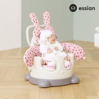 아기의자 전용_허그래빗 패브릭 2종세트 (핑크)