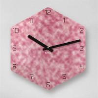 리플렉스 6각 몰드 핑크 무소음 아크릴 벽시계(대) OLD18