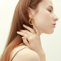 simple wave earring-unbalance