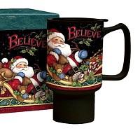 세라믹 트래블머그-Believe Santa