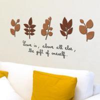 [우드스티커] 작은잎 (컬러완제품)