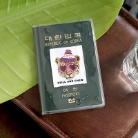 Clear passport case