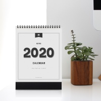 2020 RETRO DESK CALENDAR