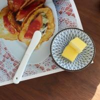 화이트 도기 버터나이프 1p