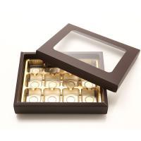 초콜릿박스 12구 브라운 사각창