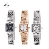 탠디 다이아몬드 여성 메탈 시계 (다이아 1PCS)