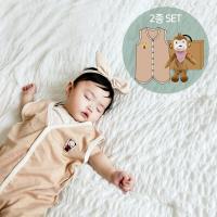 오가닉사계절수면조끼세트(애착인형아기정글+선물박스