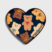 Dot ribbon bear-navy(hearttoktok)