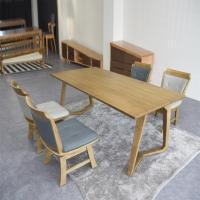 맬린 4인 원목 식탁 세트(의자형)
