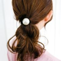 포니테일 진주 머리끈
