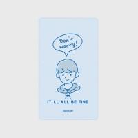 [어프어프] 보조배터리 Don't worry about him-sky blue