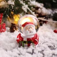 크리스마스 인형 워터볼 스노우볼 4.5cm (산타)