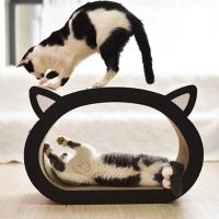 바우미우펫 고양이얼굴 골판지 스크래처