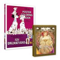 디즈니 포스터 컬러링북 + 아르누보 36색 색연필