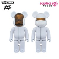 [KINKI ROBOT] 다프트펑크 베어브릭 100% BEARBRICK DAFTPUNK WHITE SUITS VER SET (1603029)