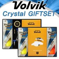 [VOLVIK] 볼빅 크리스탈 골프공 골프양말 선물세트 골프티/마커 (B215165423)