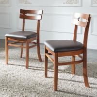아카시아PU 식탁 의자 2개 FN702-4