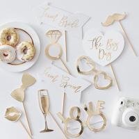 골드 웨딩 포토프롭 포토픽 Wedding Photo Booth Prop