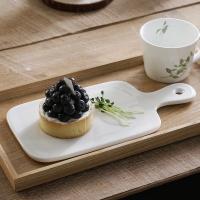 홈스토랑 화이트 손잡이 도마 접시(대) 1p