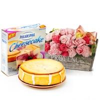필라델피아 치즈케익 라즈베리 스월(794g)+비누꽃 프라린파스텔