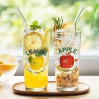 Fruit 유리컵 + 스트로우 세트