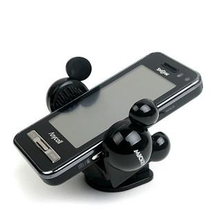 미키마우스 핸드폰홀더 - 블랙