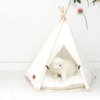 나비캣 텐트하우스 크림화이트