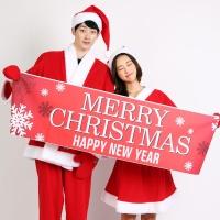 크리스마스 현수막 (레드)
