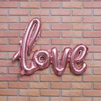 이니셜 은박풍선 LOVE (핑크)